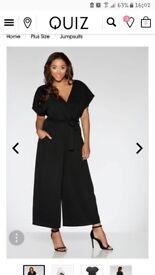 Black crepe jumpsuit from quiz