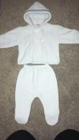 Baby boy knitted outfit