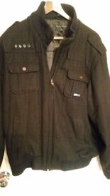 SEAN JOHN FANTASTIC JACKET WAS £190 ONLY 9!!! SIZE XL HAS A SMALL HOLE IN THE FRONT EASY TO STITCH
