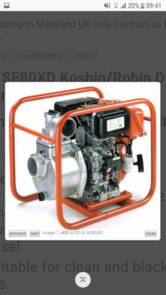 !!!KOSHIN SE-80XD CLEAR WATER PUMP!!!