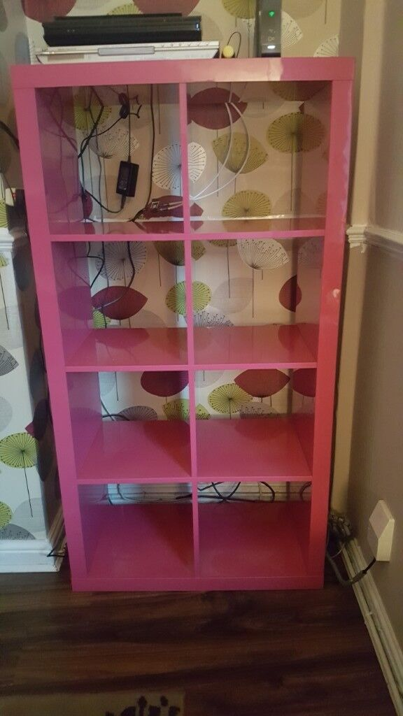 best authentic 9b916 87da1 Pink high gloss ikea kallax storage cubes unit shelves   in Radcliffe,  Manchester   Gumtree