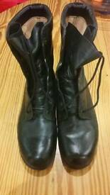 Mens leather flying boots size 8