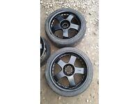 "17"" Kosei Japanese Alloys Wheels ROTA Drift Honda Civic Type R Mazda RX7, 205/45/R17 17X7 JJ"