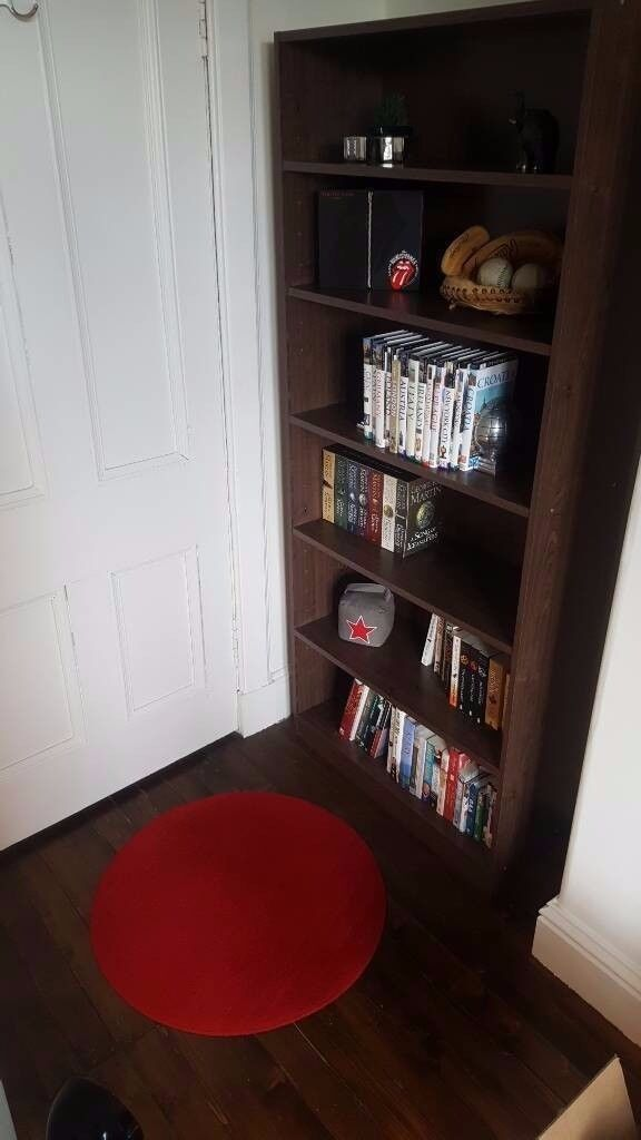 IKEA BILLY Walnut colour Bookcase/display shelves for DVD Blu-ray CD or books