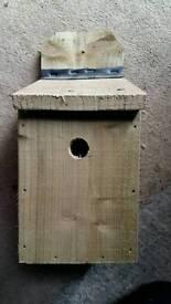 Hand made wooden bird boxes