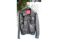 Superdry Brad Vintage Distressed Leather Jacket, Black, XL, Excellent Condition, Hardly Worn!!
