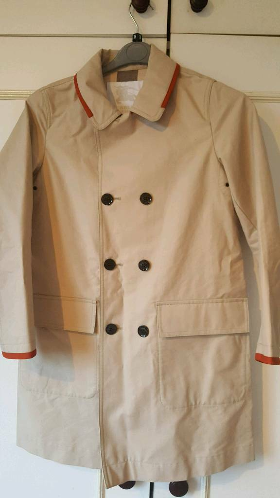 233e14026787 Burberry Kids Mini Me Beige Trench Coat With Detachable Hood