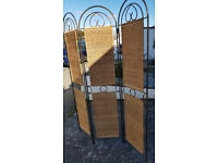 Vintage Wrought Iron & reed room divider