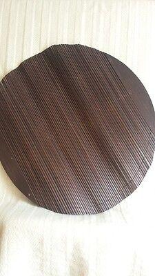 Danish Midcentury Design Large Rosewood Circular Folding Place Mat