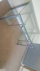 Stylish glass desk with drawer
