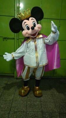 harakter Maskottchen Kostüm Cosplay Gelbgolden, Weiß (Maus König Kostüm)