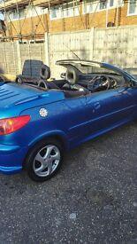 Peugeot 206 Convertible 04 reg. 56400 miles