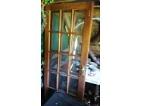 pair of Georgian style mahogany french doors internal