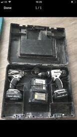 Combi drill set x2 chargers & battery