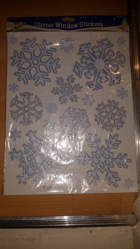 Christmas window glitter stickers