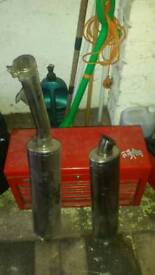 Fosh tank for sale and bike tail pipes