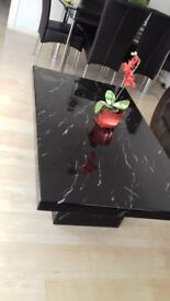 Solid marble black coffee table from scs