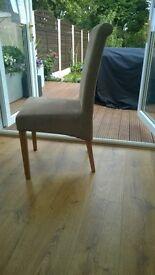 Oak dining chairs -set of six