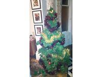 Christmas tree and tinsel