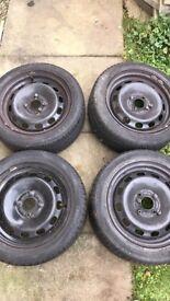 Steel wheels - from 62 plate Ford Fiesta £40