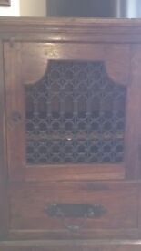 Oak Cabinet/Wine Rack/Audio Unit