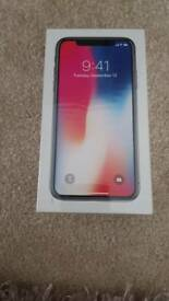 IPHONE X 64GB SPACE GREY BRAND NEW SEALED MOBILE PHONE