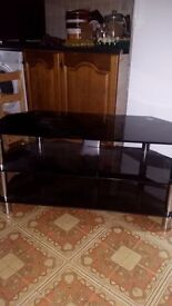 Mirror black tv stand widescreen television