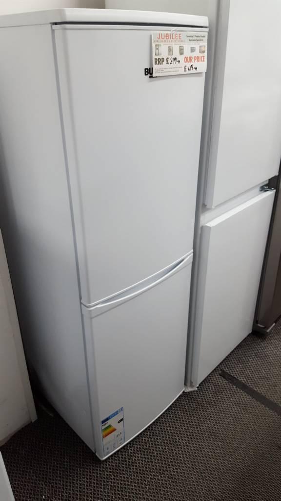 New graded Bush 50cm white fridge freezer with 12 months guarantee