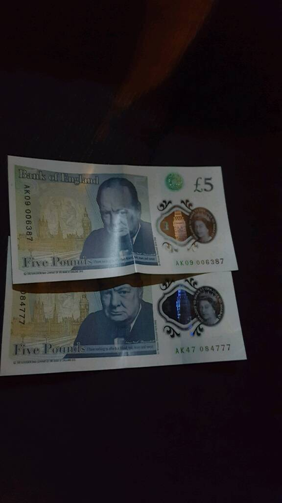 5 pounds notesin Bradford, West YorkshireGumtree - Collectibles 5 pounds notes