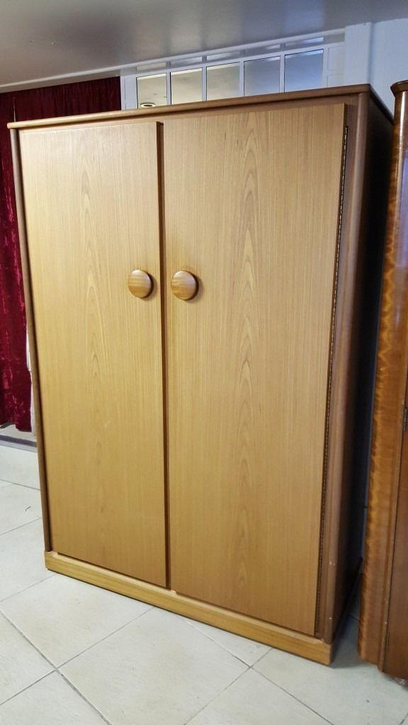 Beautiful Mid Century Solid Wood Double Wardobe