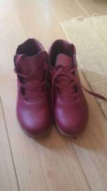 Brand new cotton traders burgundy red leather ladies boots size 6