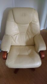 Leather / mock leather stressless reclining chair