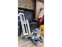 Bosch professional GCM 8 SJL SLIDING MITRE SAW and GTA 2600 stand 110v comes with transformer