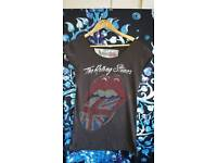 Rolling Stones T Shirt Size S Amplified