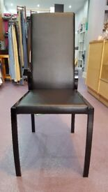 Cucina black leatherette dining chairs