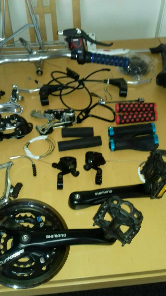 used road   hybrid mountain bike parts | in Dronfield, Derbyshire | Gumtree