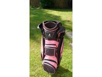 Ladies Golf Bag - Green Lamb - Pink and Black