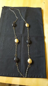 Lovely long black & gold bead necklace by Monsoon, £1
