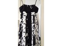 Dress Cream and Black size 12. Monsoon make and lined .