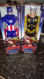 "Brand new 12"" Captain American and Thor action figures ideal Xmas present"