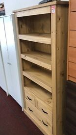 San Diego Solid wood Pine Bookcase - Solid PIne