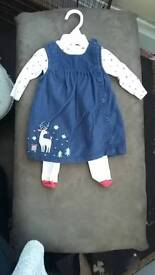 Baby girl Christmas outfit (0-3 mths)