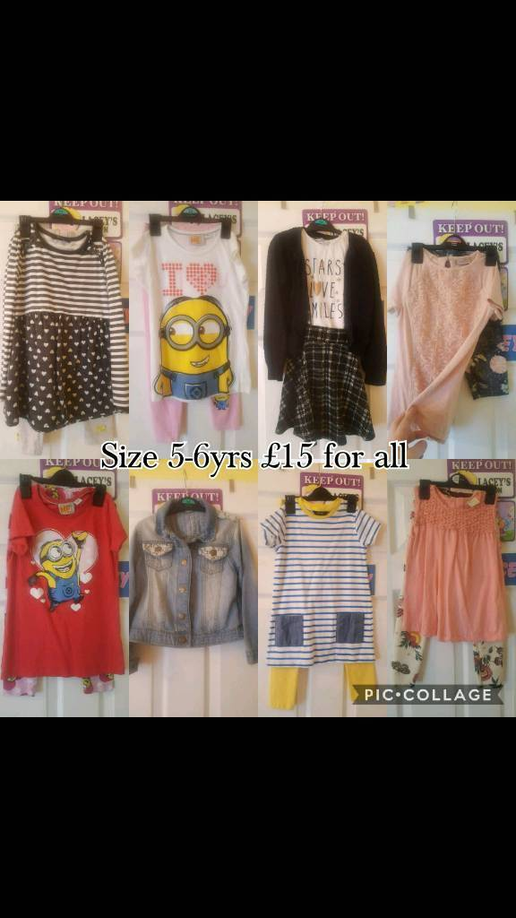 Girls cloths size 5-6yrs