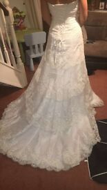 Prime Donna size 10 beautiful lace detail Wedding Dress