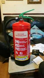 Fire extinguisher eco foam mint condition fully serviced can deliver