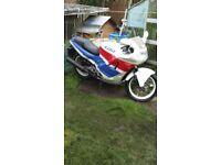 Honda CBR600FL 1990 red, whit and blue