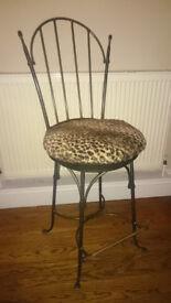 Vintage American bar stools, pair of