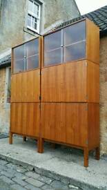 Vintage Retro Teak Storage Unit Cupboard Room Divider Mid Century Modern Danish