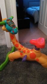 Vtech giraffe bike, great condition. Plays different sounds and music