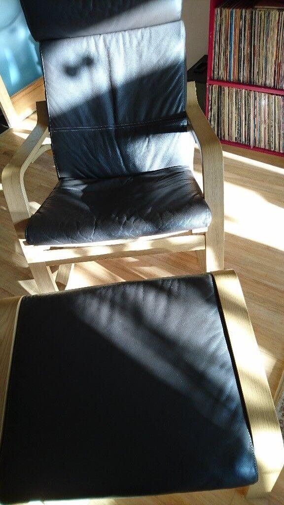 Ikea Rocking-chair POÄNG Oak veneer/glose dark brown real
